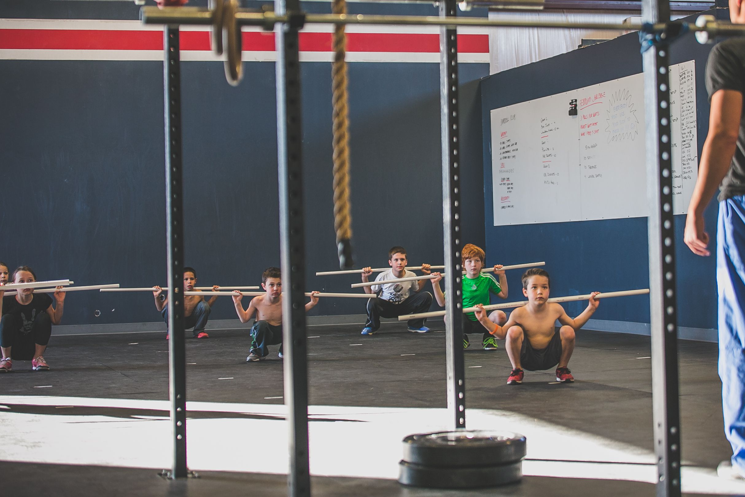 CrossFit Kids class in gym